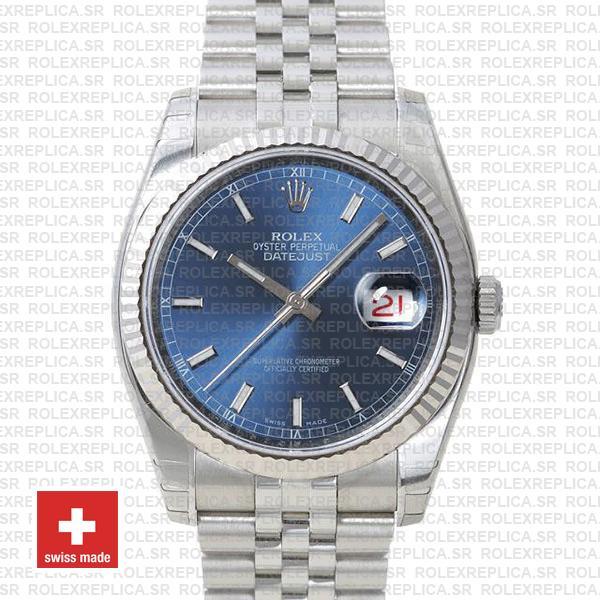 Rolex Datejust 36mm Blue Dial Jubilee Bracelet | Rolex Replica