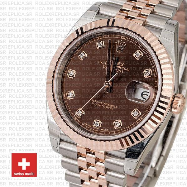 Rolex Datejust 41 Jubilee Bracelet Two-Tone 18k Rose Gold