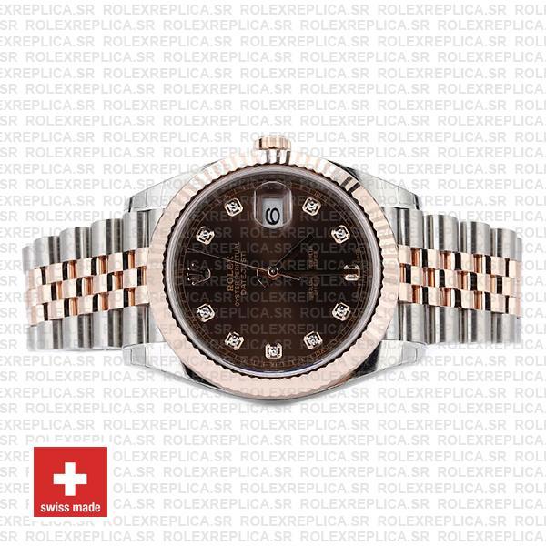 Rolex Datejust 41 Jubilee Bracelet Two-Tone 18k Rose Gold 904L Steel Fluted Bezel