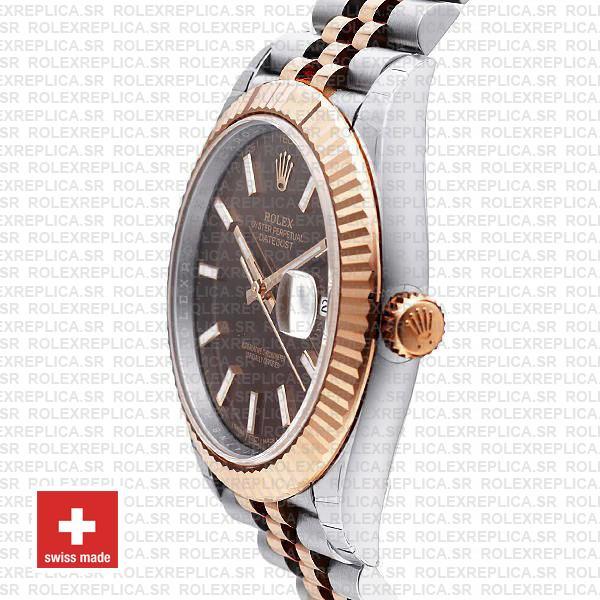 Rolex Datejust 41 Chocolate Sticks Dial Jubilee Rolex Replica