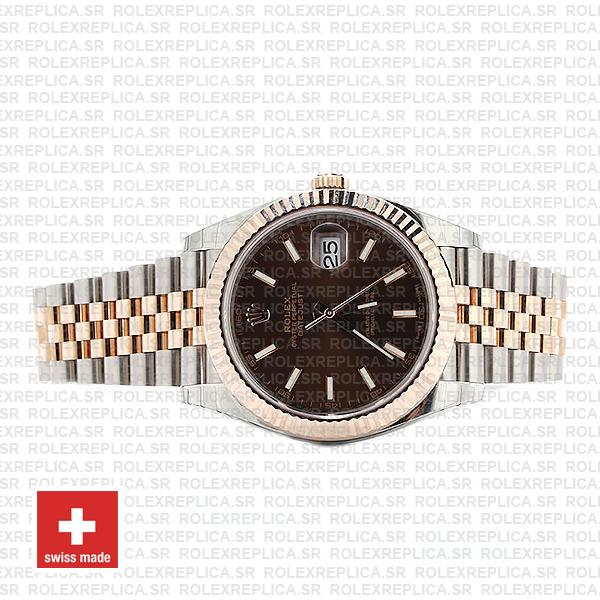 Rolex Datejust 41 Chocolate Sticks Dial Jubilee Bracelet