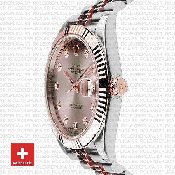 Rolex Datejust Jubilee Bracelet Two-Tone 18k Rose Gold