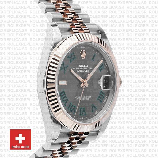 Rolex Datejust 41mm Slate Grey Dial Jubilee Two-Tone Replica Watch