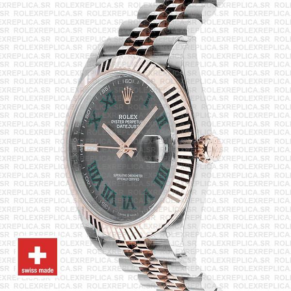 Rolex Datejust 41mm Slate Grey Dial Jubilee Two-Tone Swiss Replica Watch