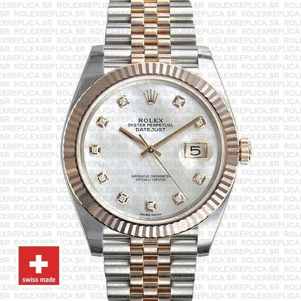 Rolex Datejust 41 Two-Tone White Diamond Dial Jubilee Watch