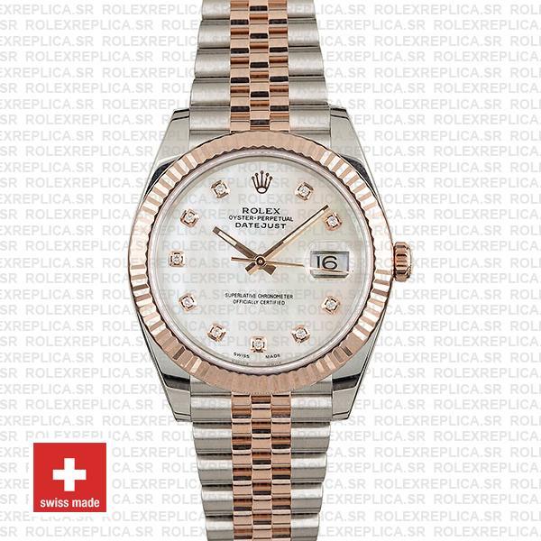Rolex Datejust Stainless Steel 41mm Two-Tone Jubilee Bracelet 18k Rose Gold