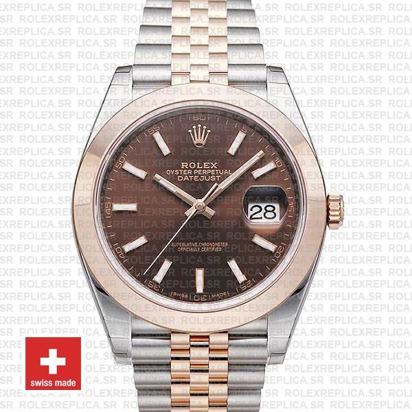 Rolex Datejust 41 Jubilee Chocolate Dial Watch | Rolex Replica