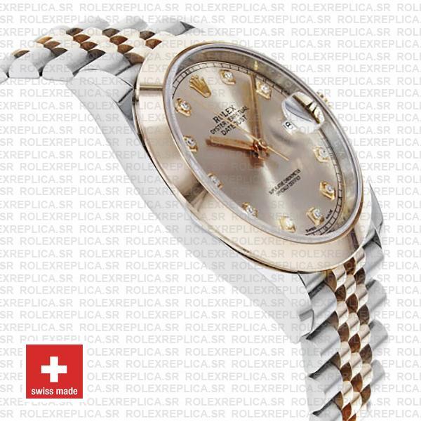 Rolex Datejust 41 Pink Diamond Dial Jubilee Two-Tone Replica Watch