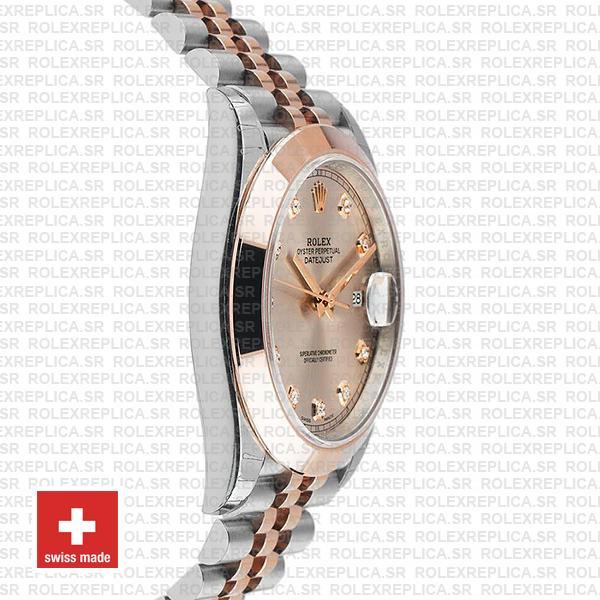 Rolex Datejust 41 Pink Diamond Dial Jubilee Two-Tone Swiss Replica Watch