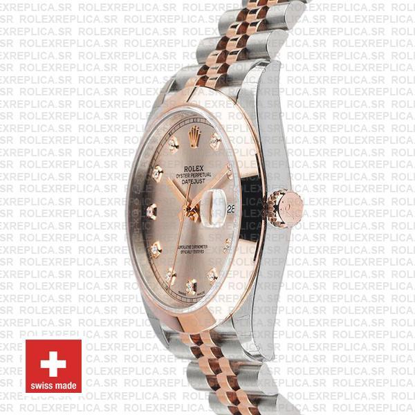 Rolex Datejust 41 Pink Diamond Dial Jubilee Two-Tone Replica