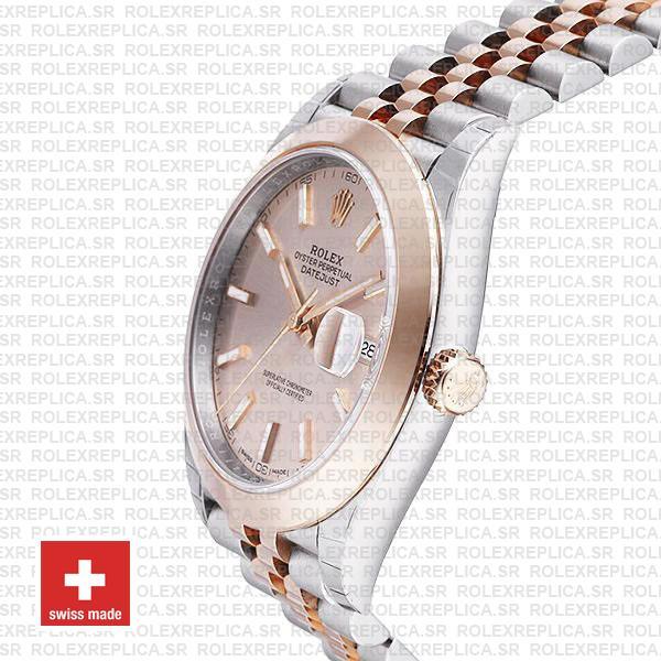 Rolex Datejust 41 Pink Dial Jubilee Bracelet Watch Rolex Replica