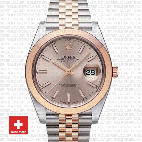 Rolex Datejust 41 Pink Dial Jubilee Bracelet Watch | Rolexreplica