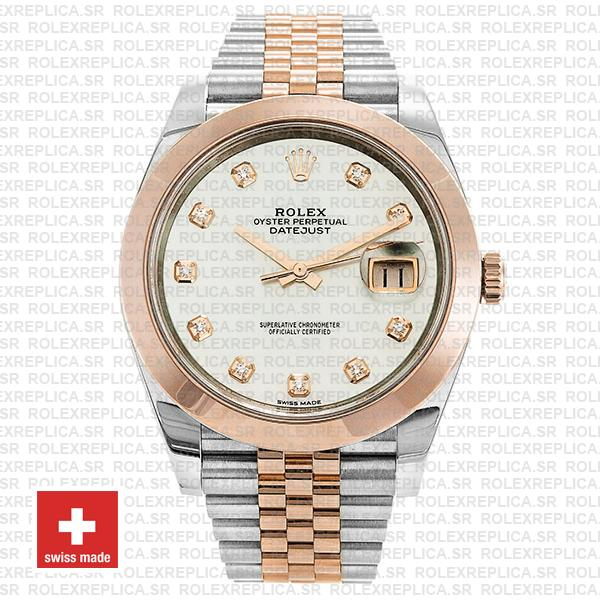 Rolex Datejust 41 Two-Tone Rose Gold Jubilee Bracelet Rolex Replica Watch