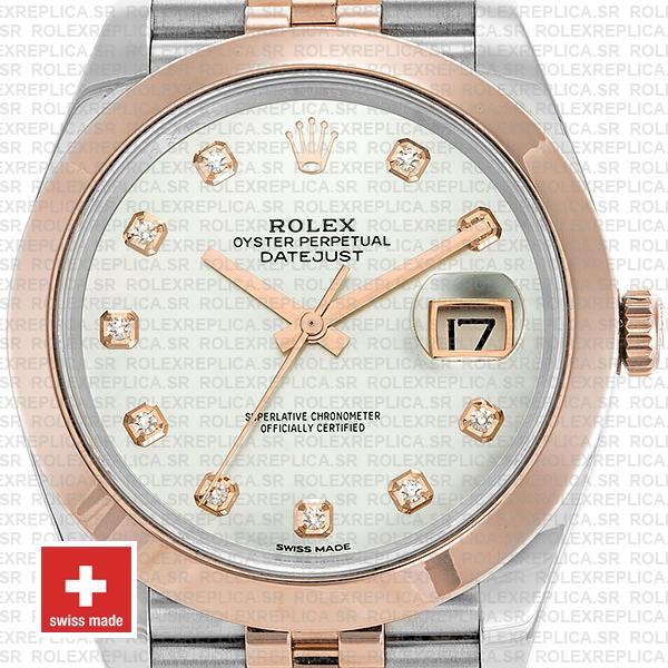 Rolex Datejust 41 Two-Tone Rose Gold Jubilee Rolex Replica Watch