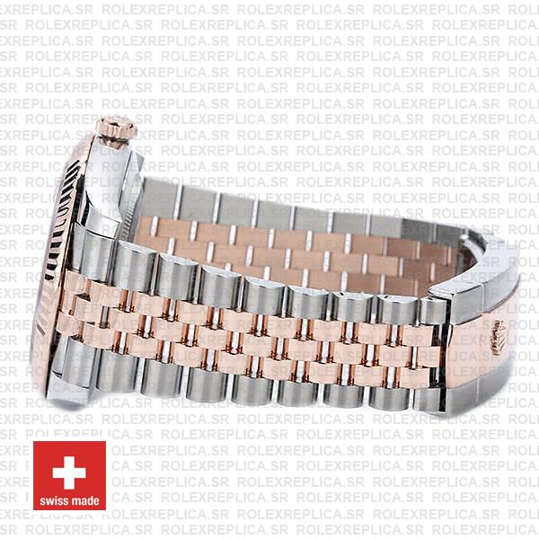 Rolex Datejust 41 Jubilee 2 Tone 18k Rose Gold Swiss Replica Fluted