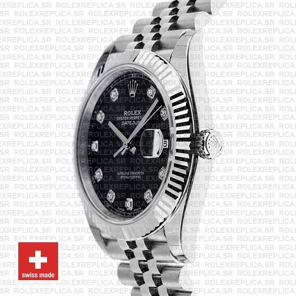 Rolex Datejust 41 Black Diamond Dial Jubilee Rolex Replica
