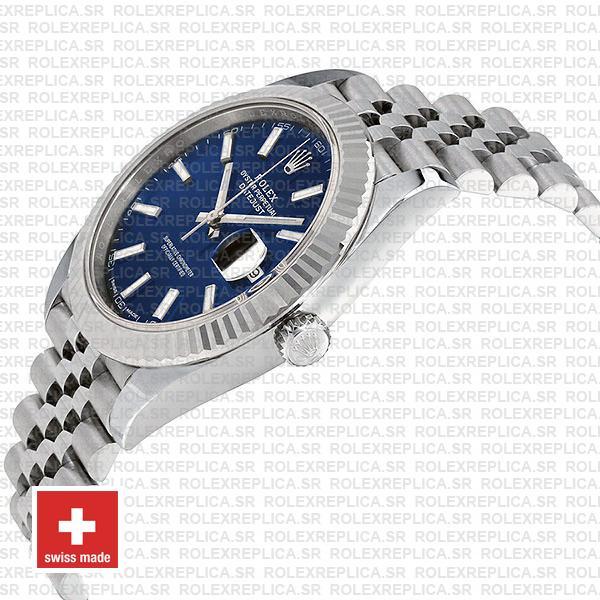 Rolex Datejust 41mm Blue Dial Jubilee Watch Replica Watch