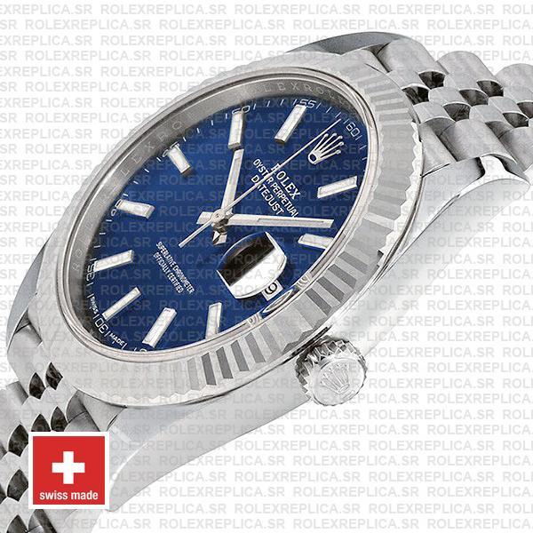 Rolex Datejust 41mm Blue Dial Jubilee Watch Replica