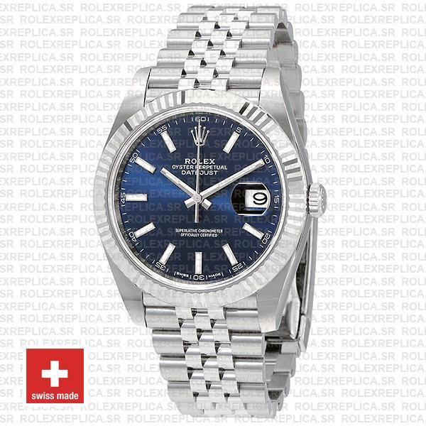 Rolex Datejust 41mm Blue Dial Jubilee