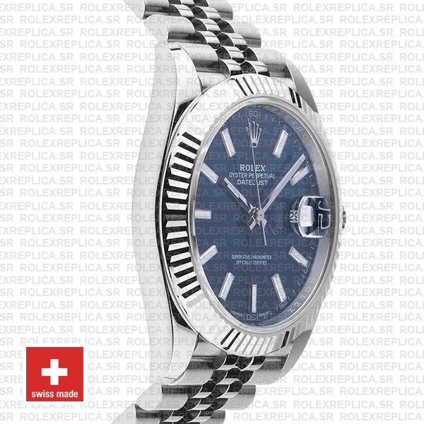 Rolex Datejust 41mm Blue Dial Jubilee Bracelet