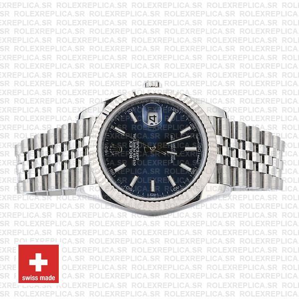 Rolex Datejust 41 Jubilee Bracelet 904L Stainless Steel Blue Sticks Dial