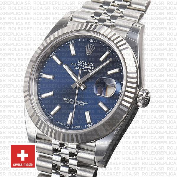 Rolex Datejust 41mm Blue Dial Jubilee Watch Rolex Replica