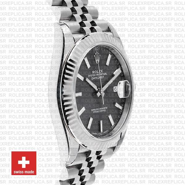 Rolex Datejust 41mm Grey Dial Steel Jubilee Swiss Replica Watch