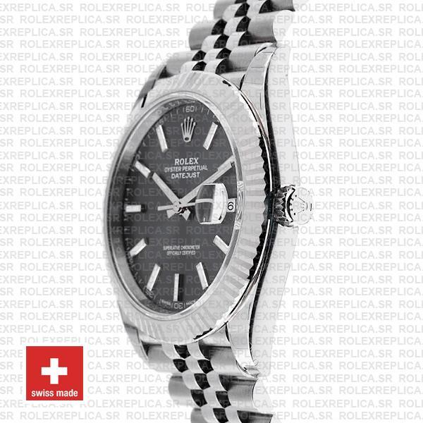 Rolex Datejust 41mm Grey Dial Steel Jubilee Swiss Replica