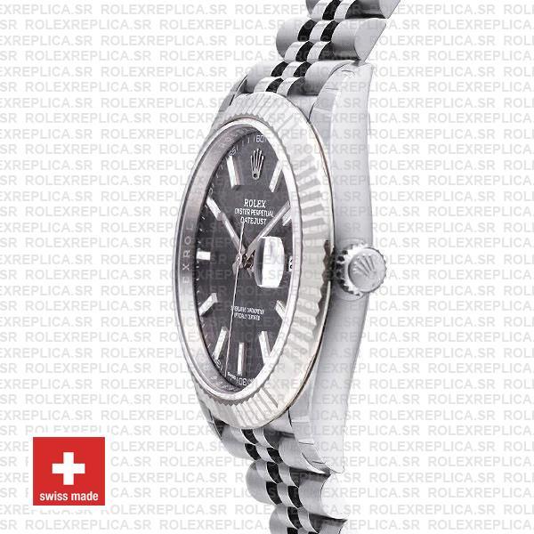Rolex Datejust 41mm Grey Dial Steel Jubilee Replica