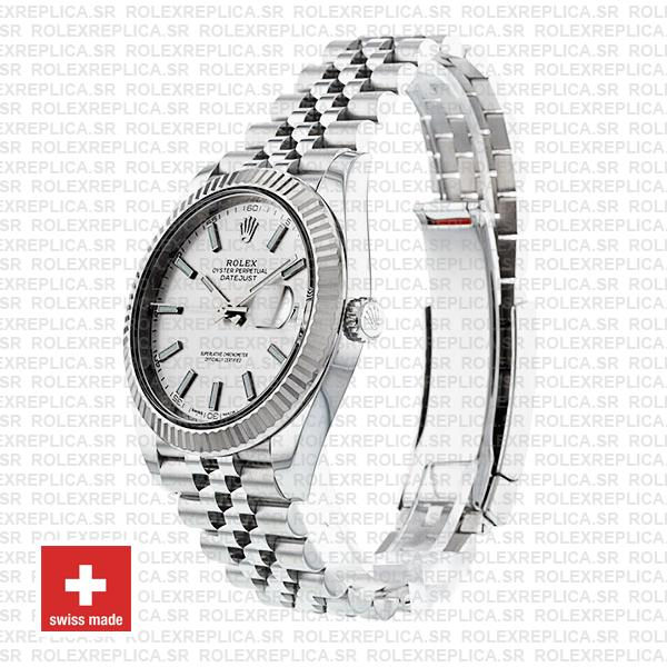 Rolex Datejust 41 Silver Dial Jubilee Fluted Bezel