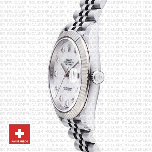 Rolex Datejust 41mm White Diamond Dial Jubilee Replica