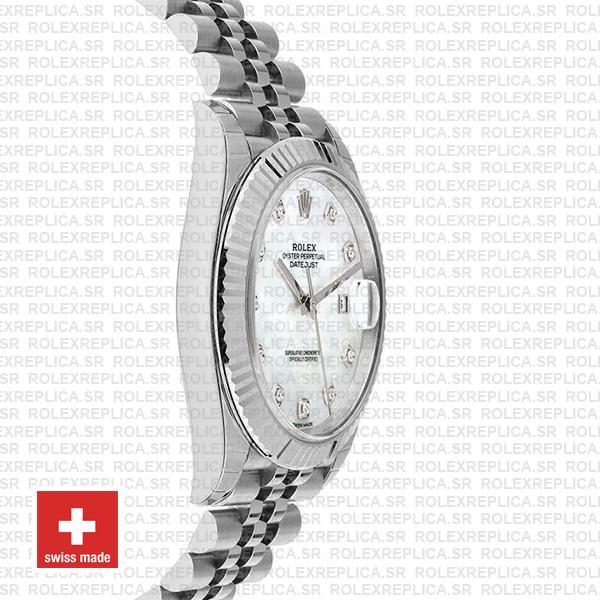 Rolex Datejust 41mm White Diamond Dial Jubilee Rolex Replica