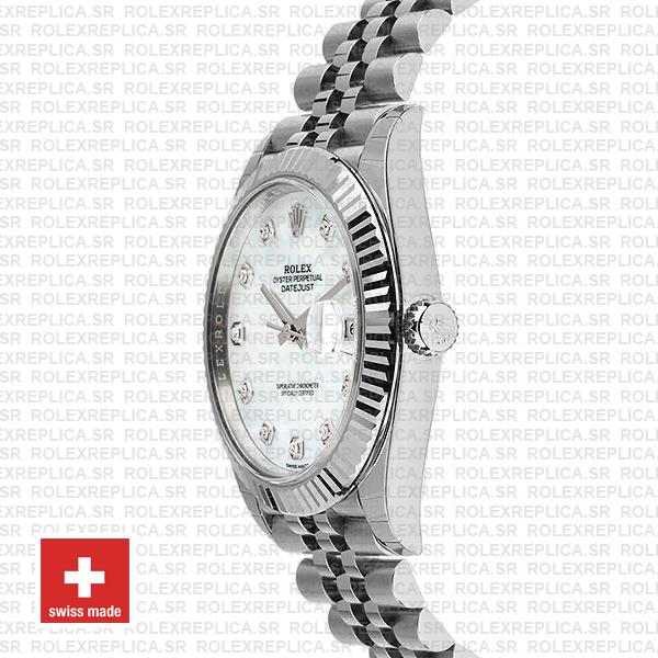 Rolex Datejust 41mm White Diamond Dial Jubilee Rolex Replica Watch