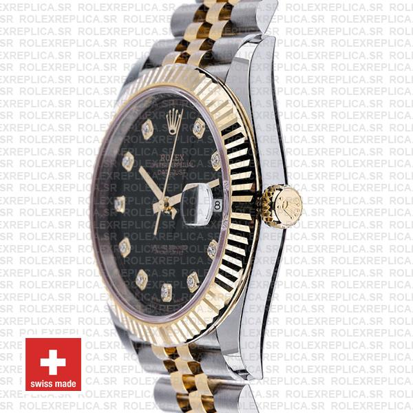 Rolex Datejust 41 Black Dial Diamonds Rolex Replica Watch
