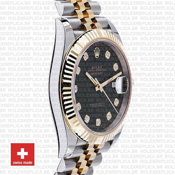 Rolex Datejust Two-Tone 18k Yellow Gold, 904L Steel Fluted Bezel