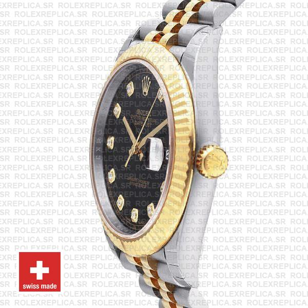 Rolex Datejust Two-Tone 18k Yellow Gold, 904L Steel Fluted Bezel Watch
