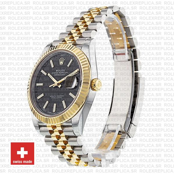 Rolex Datejust Jubilee Bracelet Two-Tone 18k Yellow Gold 904L Stainless Steel Fluted Bezel