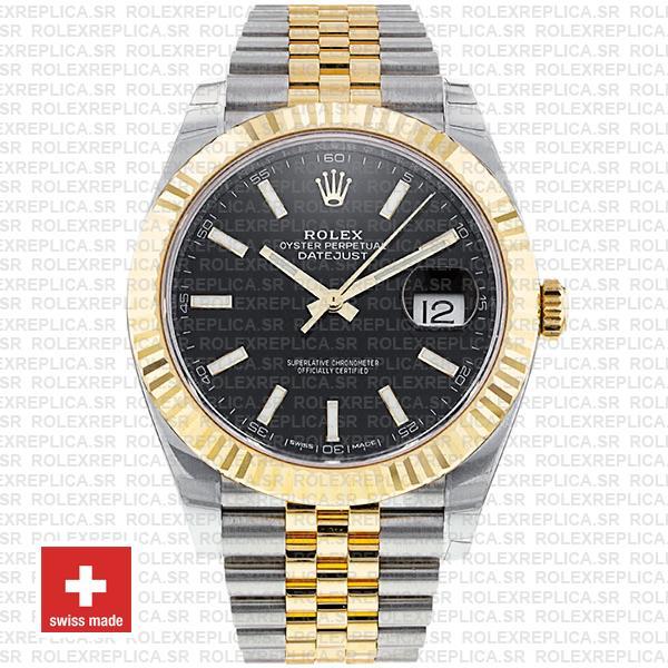Rolex Datejust Jubilee Bracelet Two-Tone 18k Yellow Gold