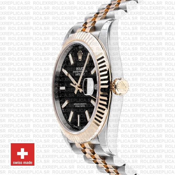 Rolex Datejust 41mm Black Dial Jubilee Bracelet Replica Watch