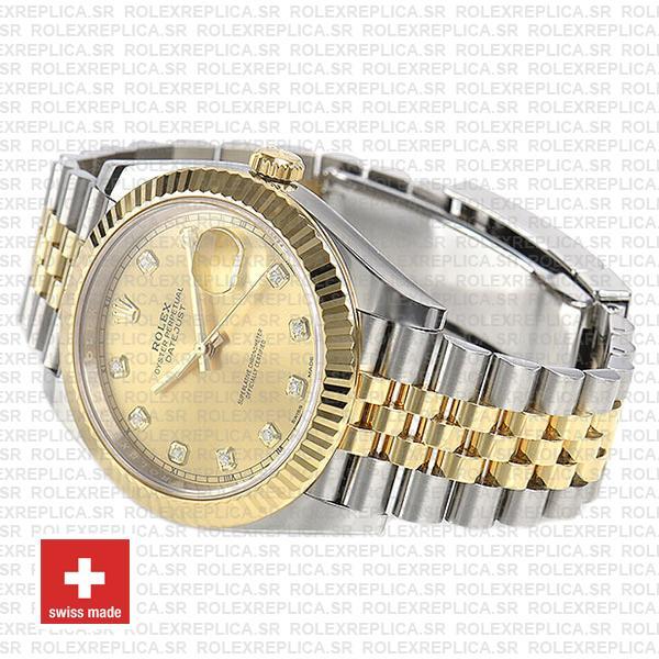 Rolex Datejust Two-Tone Jubilee Bracelet 18k Yellow Gold
