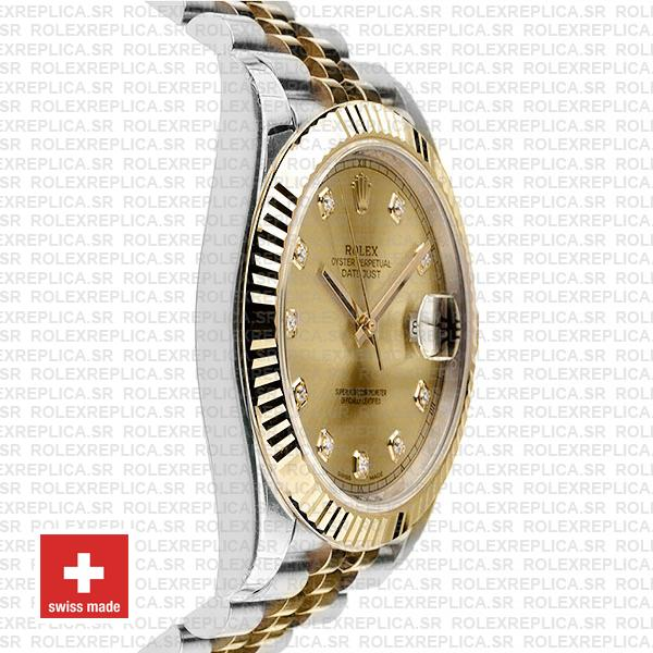 Rolex Datejust 41 Two-Tone Gold Dial Diamonds Jubilee Swiss Replica Watch