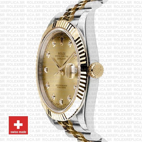 Rolex Datejust 41 Two-Tone Gold Dial Diamonds Jubilee Swiss Replica