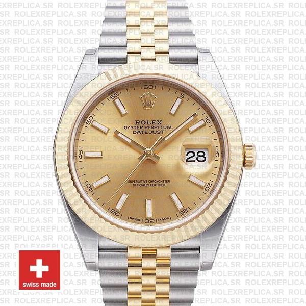 Rolex Datejust 41 Two-Tone Gold Dial Jubilee | Replica Watch