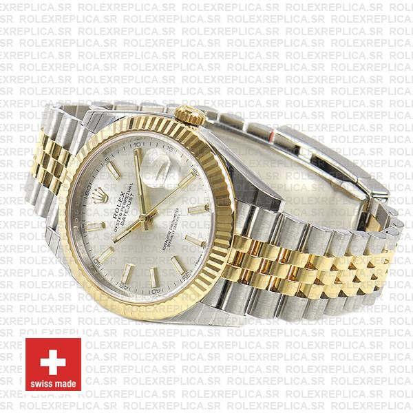 Rolex Datejust 41 Two-Tone Silver Dial Jubilee
