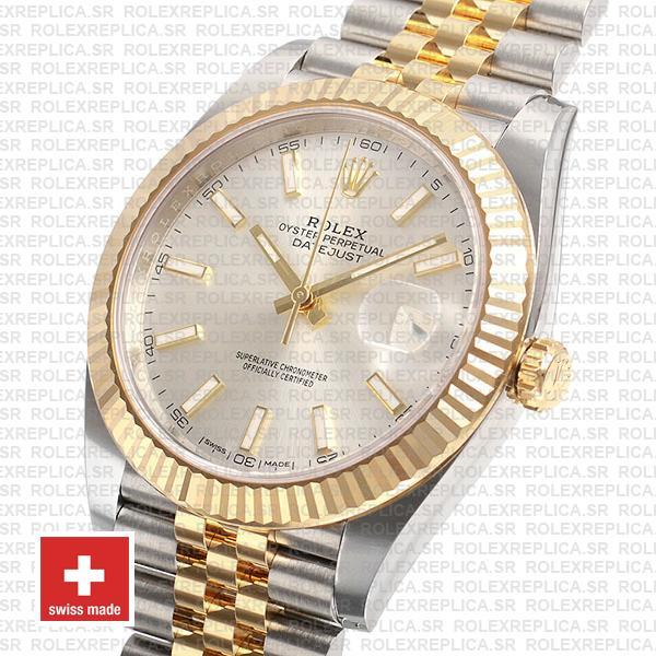 Rolex Datejust 41 Two-Tone Silver Dial Jubilee Watch