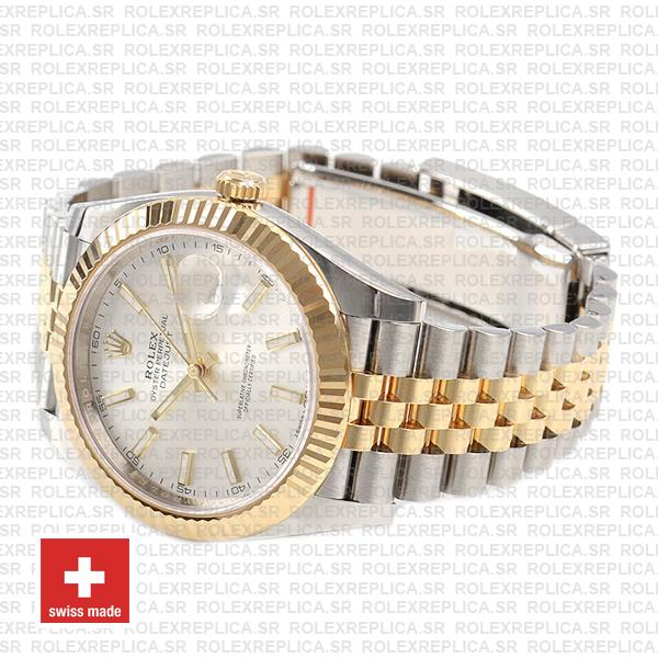 Rolex Datejust 41 Two-Tone Silver Dial Jubilee Replica