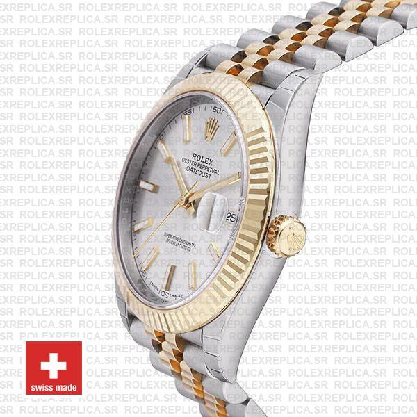 Rolex Datejust 41 Two-Tone Silver Dial Jubilee Replica Watch