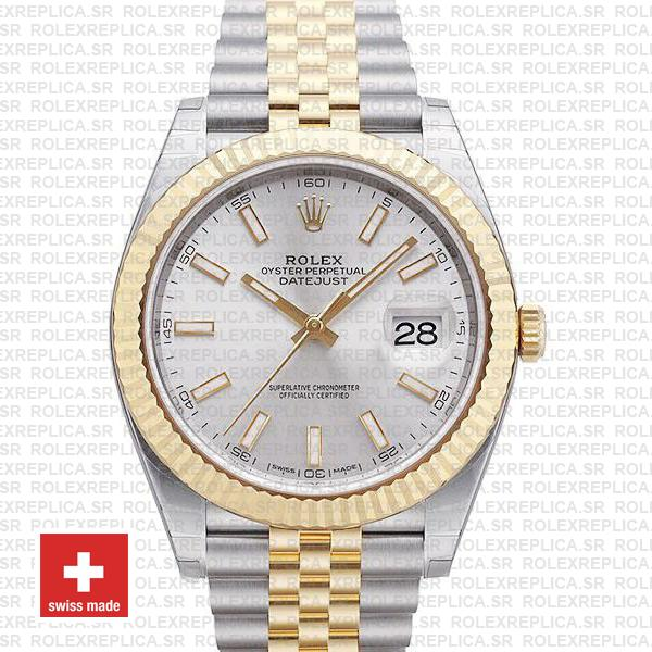 Rolex Datejust 41 Two-Tone Silver Dial Jubilee Replica Watch