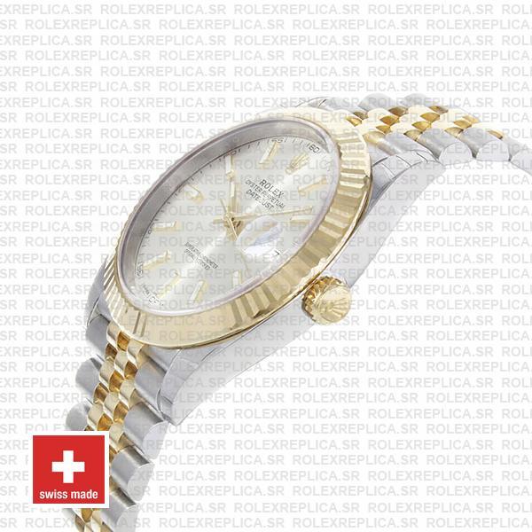 Rolex Datejust 41 Jubilee Bracelet Two-Tone 18k Yellow Gold 904L Steel Fluted Bezel Silver Dial 41mm