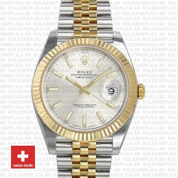 Rolex Datejust 41 Jubilee Bracelet Two-Tone 18k Yellow Gold 904L Steel Fluted Bezel